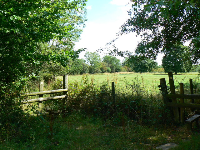 Footpath junction, Minety