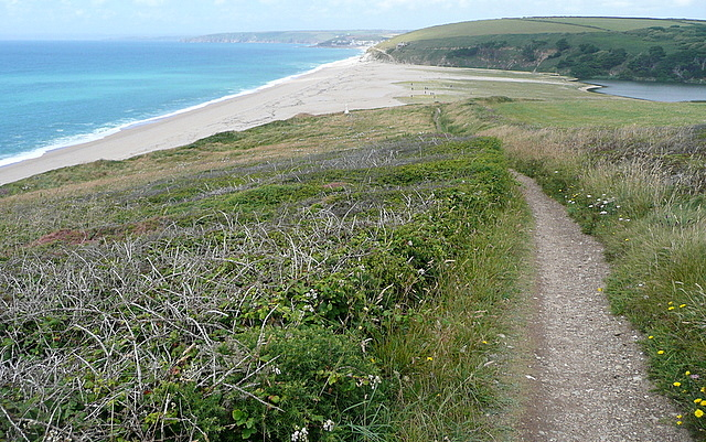 Coastal path towards Loe Bar