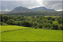 SH7617 : Fields above the Afon Clywedog by Nigel Brown