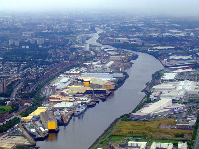The Upper Clyde from the air