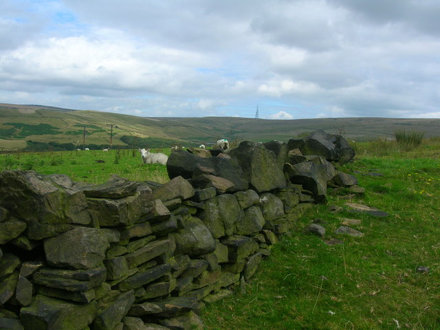 Dry stone wall above the Ogden Valley