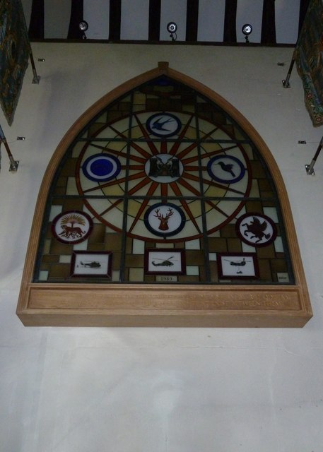 Odiham, All Saints: artwork with a helicopter theme