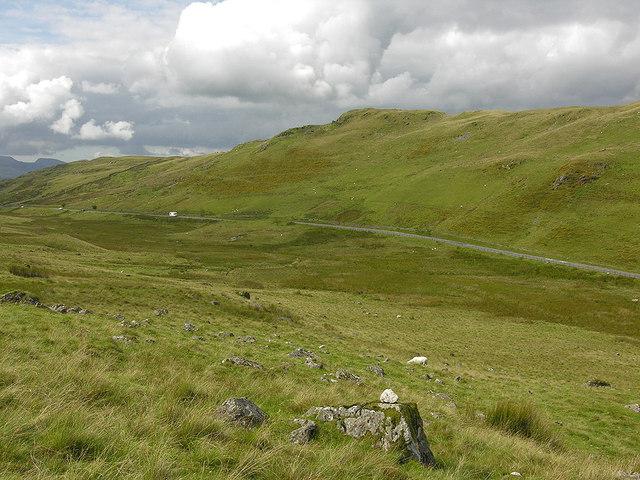 Western approach to Bwlch Oerddrws