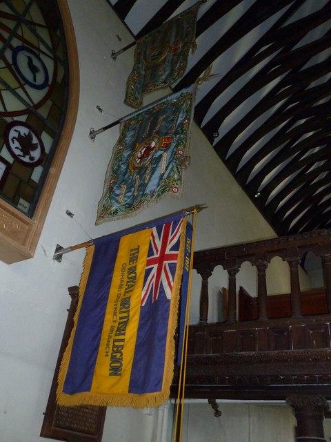 Odiham, All Saints: flags