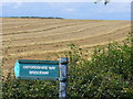 SP3320 : Corn Rows by the Oxfordshire Way by Colin Smith