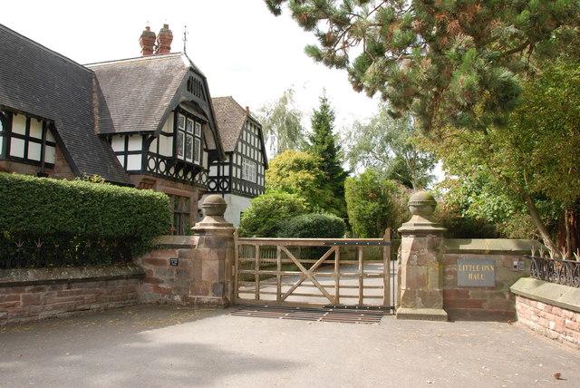 Impressive Entrance to Little Onn Hall