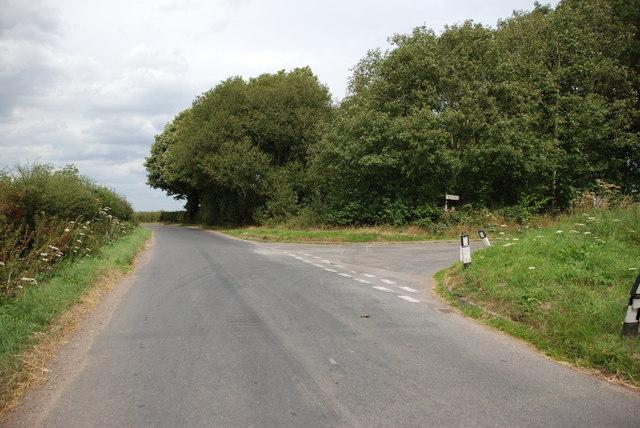 Road Junction near Little Onn