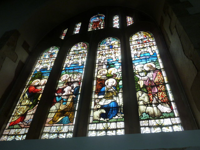 Odiham, All Saints: stained glass window (2)