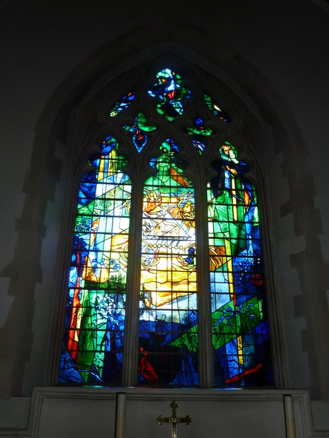 Odiham, All Saints: stained glass window (6)