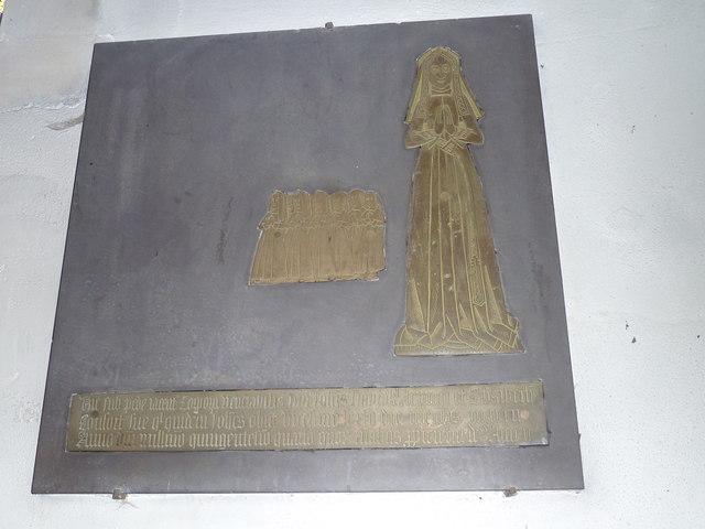 Odiham, All Saints: memorial brass