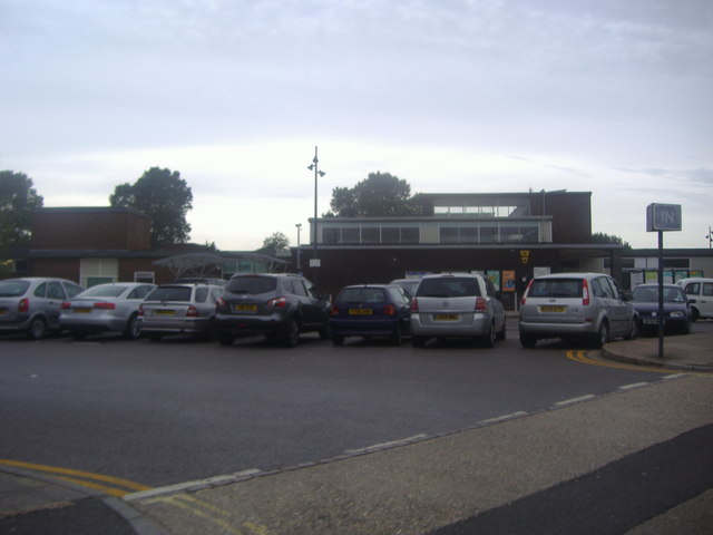 Car park and rear entrance to Chichester station