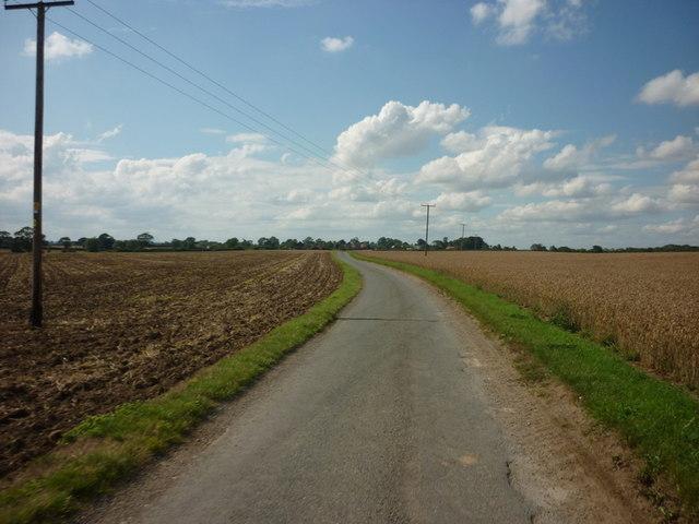 A minor road towards Catwick