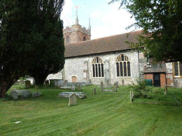 Odiham, All Saints: churchyard (6)
