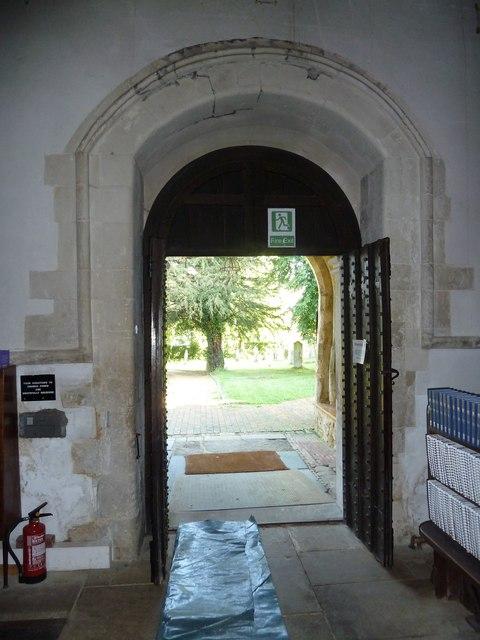 All Saints, Crondall: south door