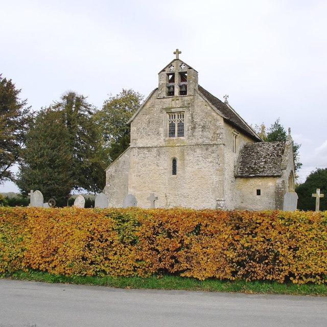 Little Faringdon church, in late October