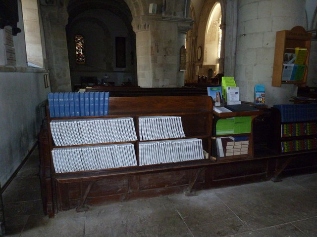 All Saints, Crondall: hymn books