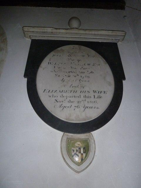 All Saints, Crondall: memorial (3)