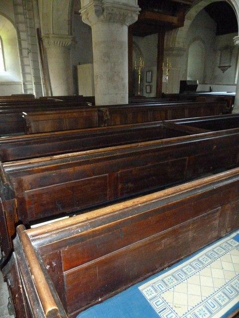 All Saints, Crondall: pews
