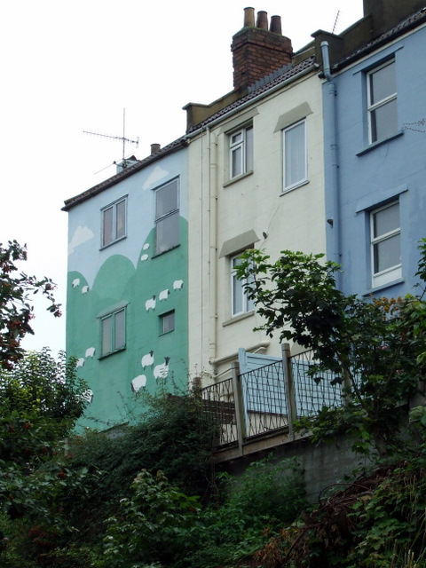 Large mural on a house