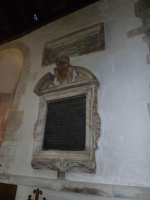All Saints, Crondall: memorial (4)