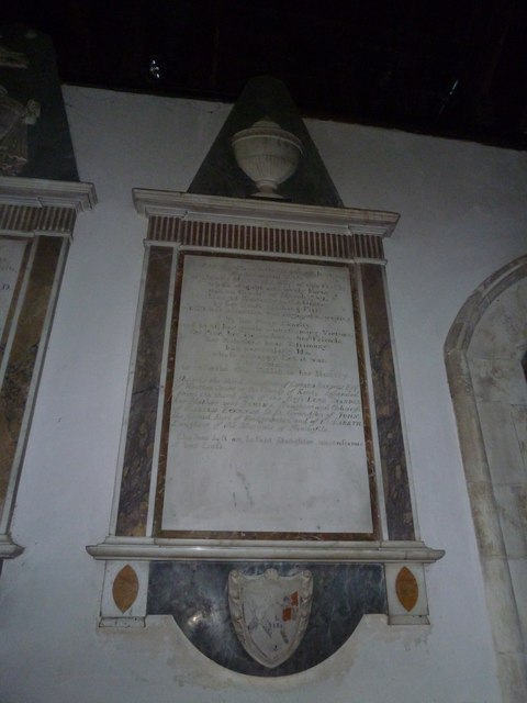 All Saints, Crondall: memorial (5)