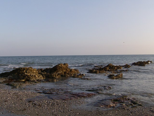 Lava reef on Seaton Beach