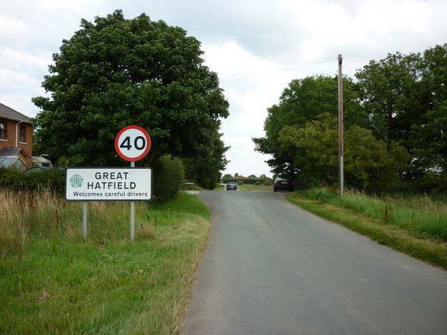 Entering Great Hatfield, East Yorkshire