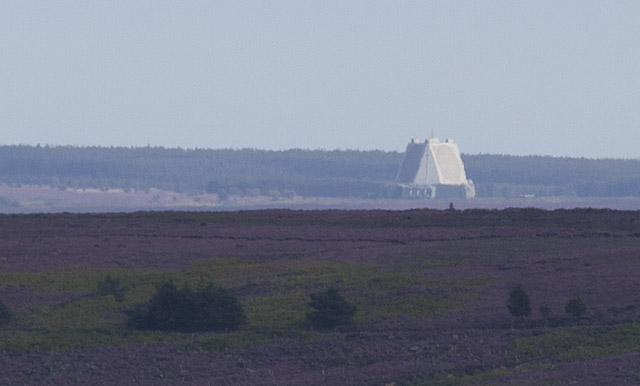 Distant view of Fylingdales base