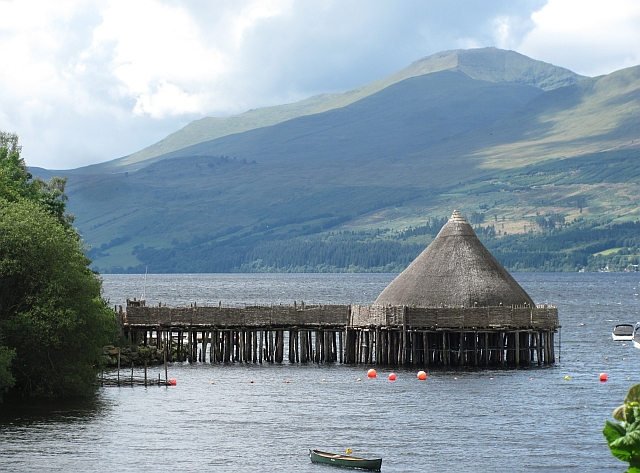 Loch Tay, a crannog and Ben Lawers