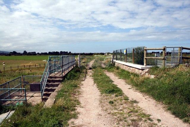 Footbridge over the River Gele (Afon Gele)