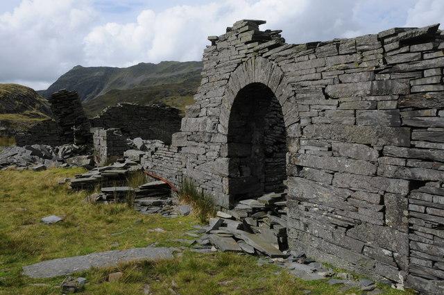 Ruins at Rhosydd Quarry