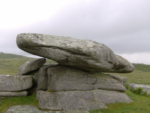 Weathered rock at Bearah Tor