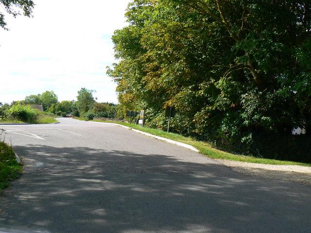 B4696 Ashton Road from Swan Lane west of Leigh