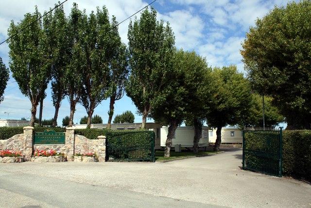 Entrance to Sun Valley Caravan Park