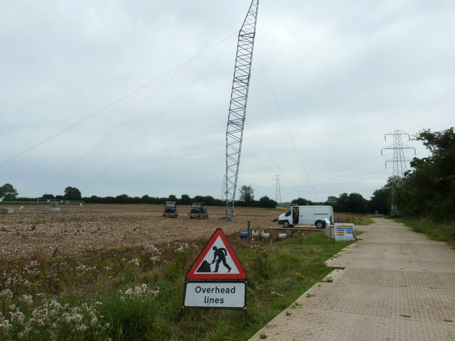 Temporary pylon on Hat Hill