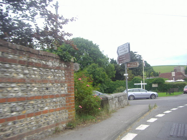 Road junction on the A286, Singleton