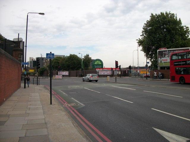 Entrance to New Covent Garden Market Nine Elms Lane