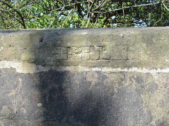 Lettering on Parkfoot Bridge