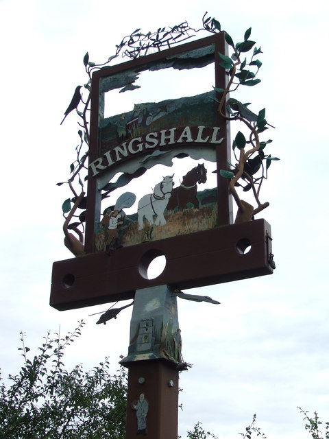 Ringshall Stocks Village Sign