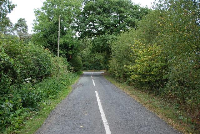 Road Junction near Longnor Gorse Farm