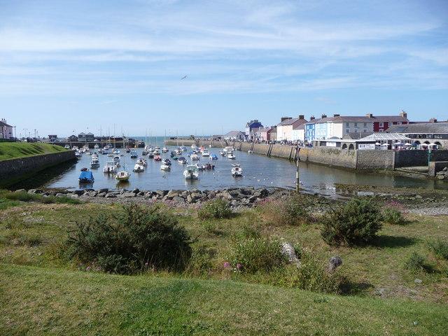 The harbour town of Aberaeron