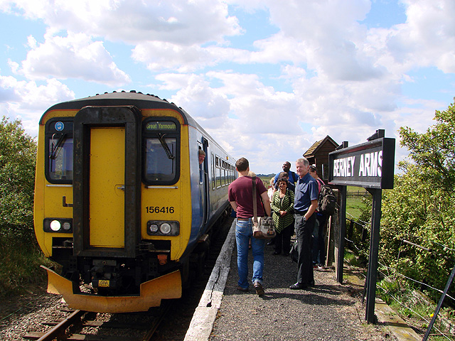 Berney Arms Station loses its reputation as the quietest railway station in England!