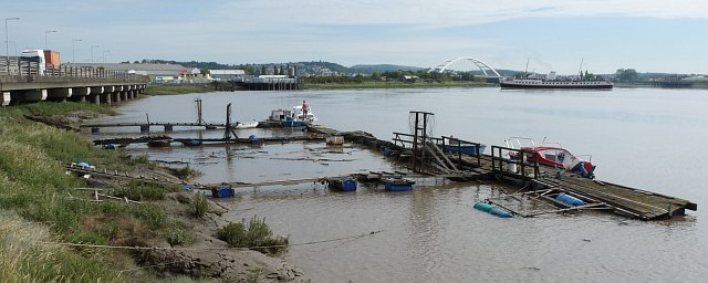 Moorings on the River Usk [1]