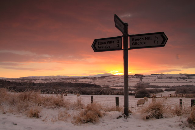 Oughterside Signpost