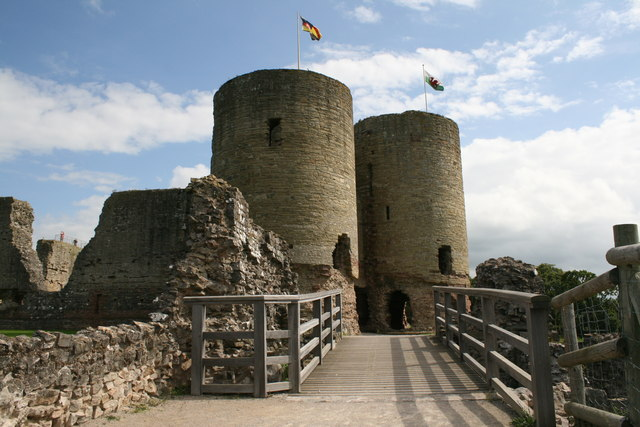 Town Gate entrance at Rhuddlan Castle