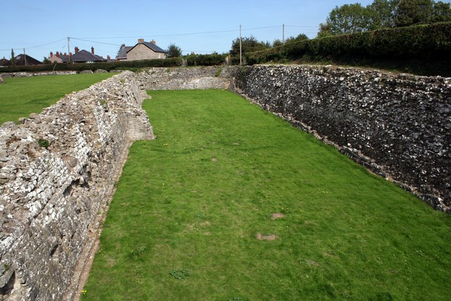 The moat at Rhuddlan Castle