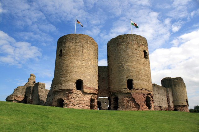 The west gatehouse of Rhuddlan Castle