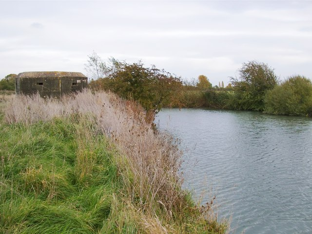The Thames above Kelmscott, with pillbox