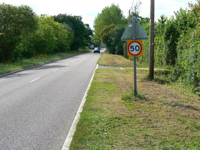 West along the B4040 Malmesbury Road Leigh