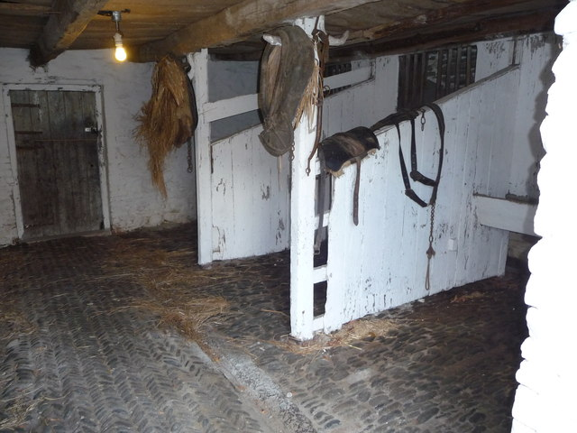 Interior of the stables at Llannerchaeron
